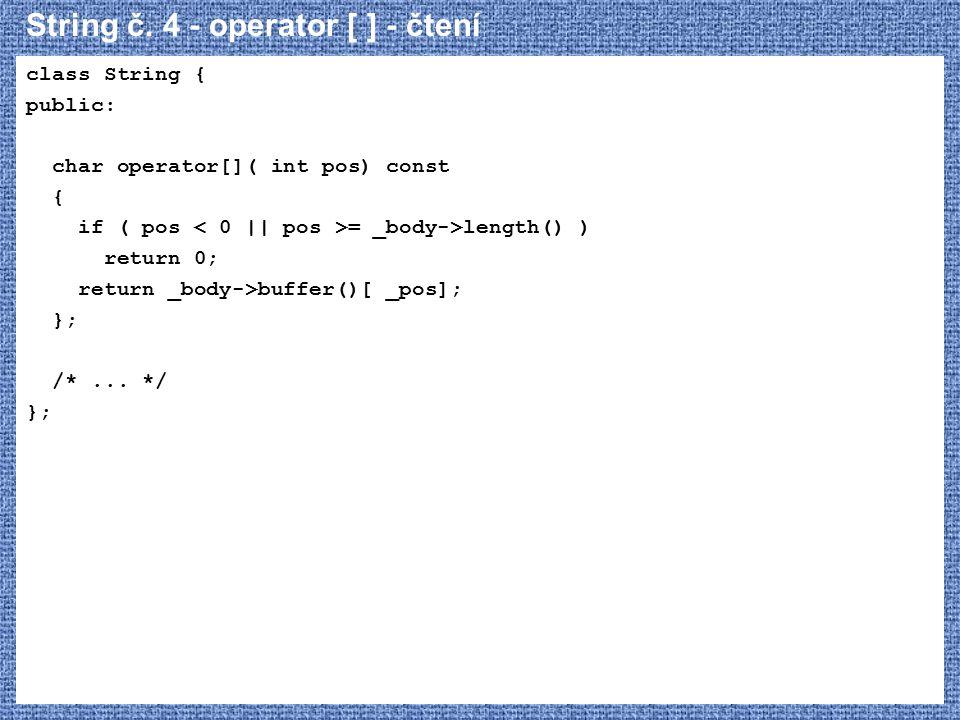 String č. 4 - operator [ ] - čtení